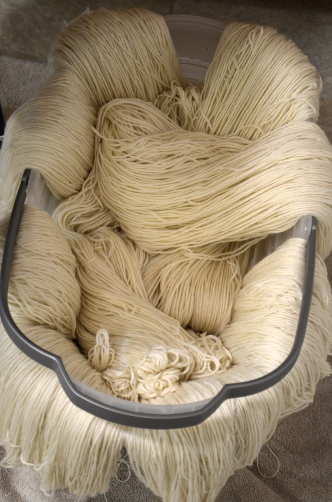 We separate skeins into the quantities we need so I can grab them quickly